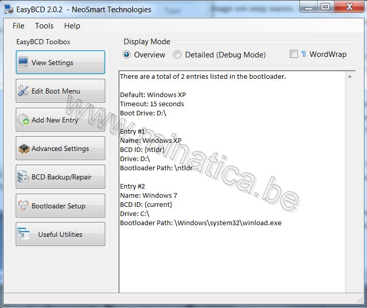 XP achterlaten of dual boot met Windows 7?--EasyBCD ...