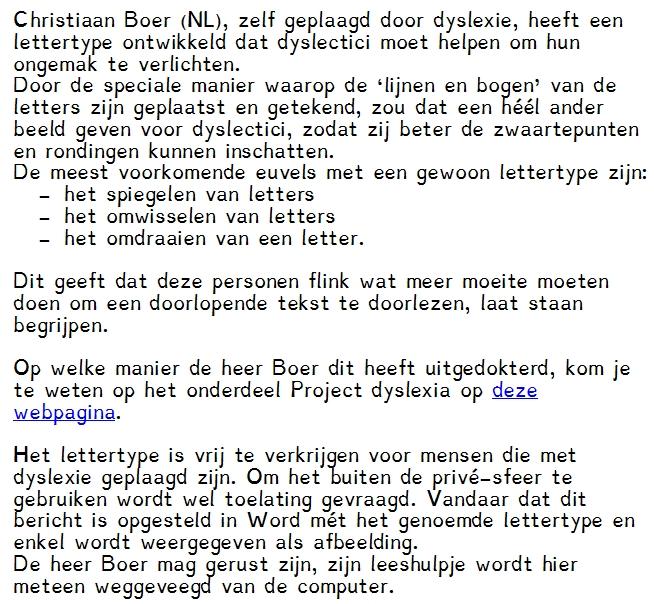 lettertype dyslexie gratis downloaden